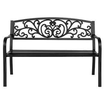"50"" Iron Outdoor Courtyard Decoration Park Leisure Bench"