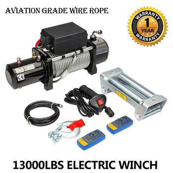 Classic 13000lbs 12V Electric Recovery Winch Truck SUV 2 PCS Wireless Remote