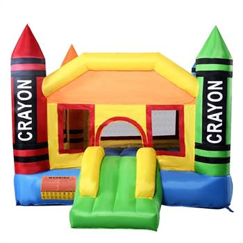 3.7*2.7*2.3m 420D Thick Oxford Cloth Inflatable Bounce House Castle Ball Pit Jumper Kids Play Castle Multicolor