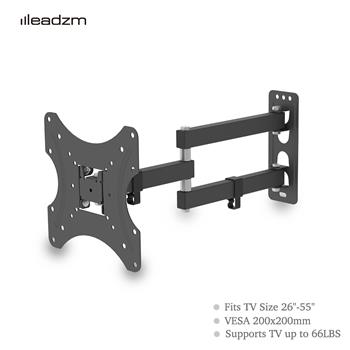 "LEADZM 26-55"" Adjustable Wall Mount Bracket Rotatable TV Stand TMX200 with Spirit Level"
