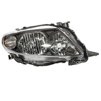 2pcs Front Left Right Car Headlights for Toyota Corolla 2009-2010 Black Housing & Clear Lens