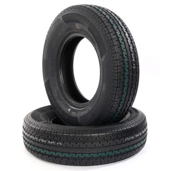 2pcs STR II ST225-75R-15-10 Spare Replacement Rubber Tires Black