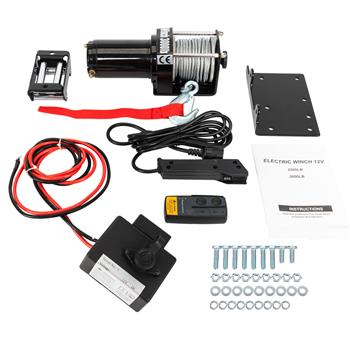 3000Lbs Electric Winch Truck For SUV/Jeep Wireless Remote Control free shipping