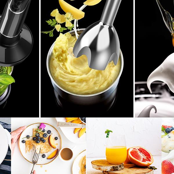 KOIOS smart Electric 4-in-1 Hand Best Immersion Blender with 12-Speed Stick