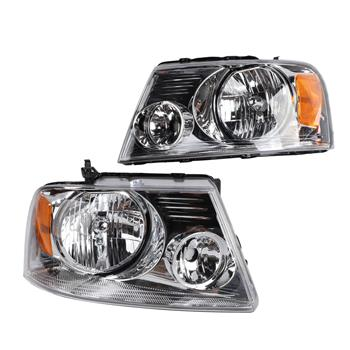2pcs Front Left Right Headlights for Ford F-150 2004-2008/Lincoln Mark LT 2006-2008 Models Only