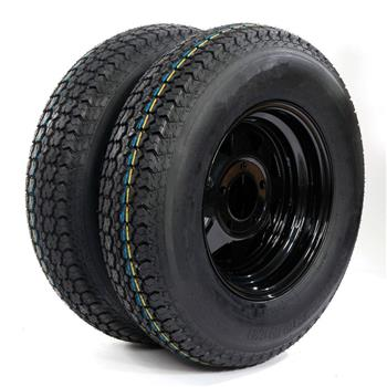 175/80D13 Load Range C 6 Ply Rated Trail Bias Material: Rubber 2 Pcs tires
