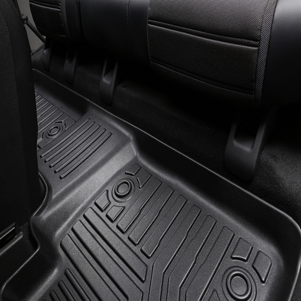 3D汽车脚垫 Custom Fit  3D TPE All Weather Car Floor Mats Liners for Toyota Camry 2018-2020 (1st & 2nd Rows, Black)