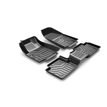 3D汽车脚垫 Custom Fit  3D TPE All Weather Car Floor Mats Liners for Cherokee 2016-2020 (1st & 2nd Rows, Black)