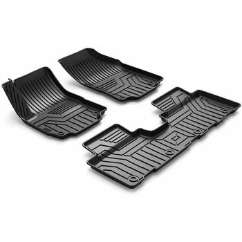 3D汽车脚垫 Custom Fit  3D TPE All Weather Car Floor Mats Liners forChevy Equinox 2018-2020 (1st & 2nd Rows, Black)