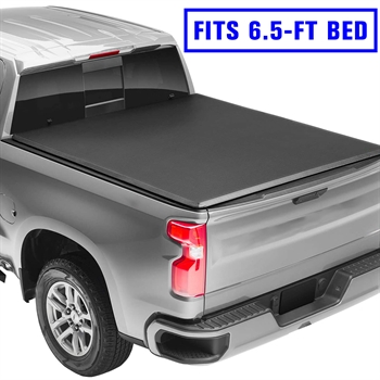 皮卡软三折盖板For  2019+Silverado 1500/2500 LT crew cab double cab 6.5' SOFT TRI -FOLD