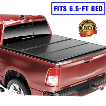 皮卡硬三折盖板For 2019+ Silverado 1500/2500 LT crew cab double cab 6.5'  HARD TRI-FOLD