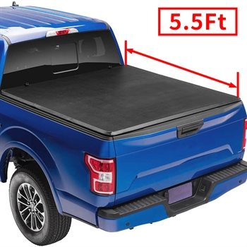 皮卡软三折盖板For 2014-2019 Ford F150 Supercrew double cab  5.5' Bed  Soft Tri-fold Tonneau Cover