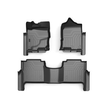 3D汽车脚垫 Custom Fit  3D TPE All Weather Car Floor Mats Liners for Nissan Titan XD 2017-2020 (1st & 2nd Rows, Black)