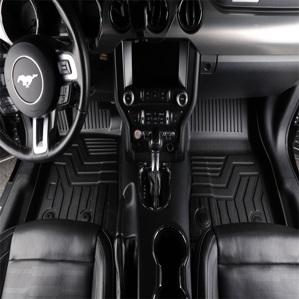 3D汽车脚垫 Custom Fit  3D TPE All Weather Car Floor Mats Liners for Ford Mustang 2014-2020 (1st & 2nd Rows, Black)