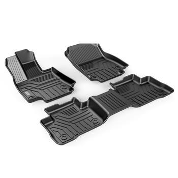 3D汽车脚垫 Custom Fit  3D TPE All Weather Car Floor Mats Liners for Toyota RAV4 2019-2020 (1st & 2nd Rows, Black)