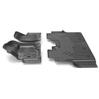 3D汽车脚垫 Custom Fit  3D TPE All Weather Car Floor Mats Liners for Ford F150 SuperCrew XLT 2015-2020 (1st & 2nd Rows, Black)
