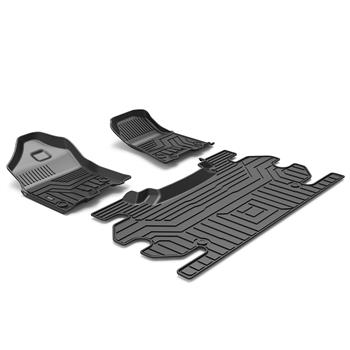 3D汽车脚垫 Custom Fit  3D TPE All Weather Car Floor Mats Liners for 2019 Ram 1500 Classic Crew Cab(Does not fit 2019 2500/3500), 2012-2018Ram 1500/2500/3500 (1st & 2nd Rows, Black)