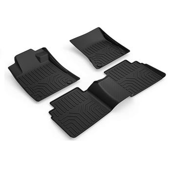 3D汽车脚垫 Custom Fit  3D TPE All Weather Car Floor Mats Liners for Nissan Altima 2019-2020 (1st & 2nd Rows, Black)