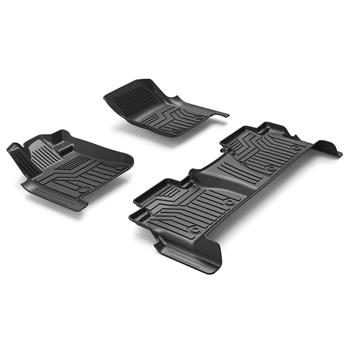 3D汽车脚垫 Custom Fit  5D TPE All Weather Car Floor Mats Liners for Toyota Tundra 2014-2020 (1st & 2nd Rows, Black)