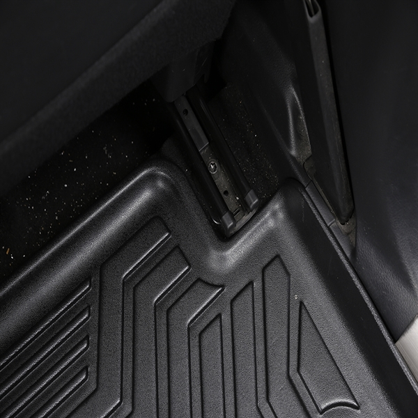 3D汽车脚垫 Custom Fit  3D TPE All Weather Car Floor Mats Liners for Nissan Rouge X-Trail 2014-2020 (1st & 2nd Rows, Black)