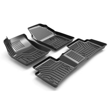 3D汽车脚垫 Custom Fit  3D TPE All Weather Car Floor Mats Liners for Toyota Corolla 2019-2020  (1st & 2nd Rows, Black)