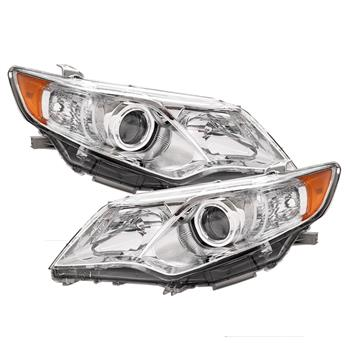Pair of Headlights OE Composite Direct Replacement Clear for 12-14 Toyota