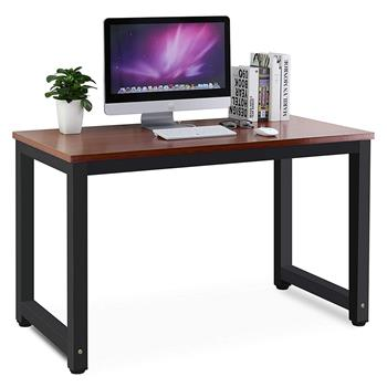 Computer Desk Study Table Gaming Desk Movable Home Furniture Modern  Made of Wooden and Anti Rust Paint Steel Frame for Office Outdoor Gaming Room(YouMian+Black)