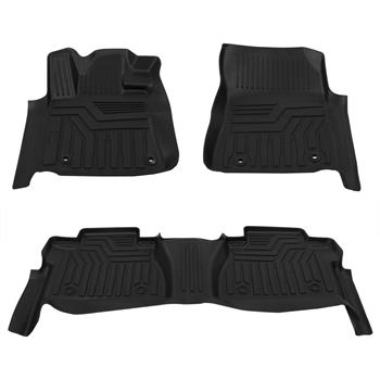 Floor Mats Liners TPE for Toyota Tundra 2014-2020 Double / CrewMax Cab