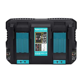 Dual Port Rapid Battery Charging Quick Double Charger Replacement Fit for Makita DC18RD