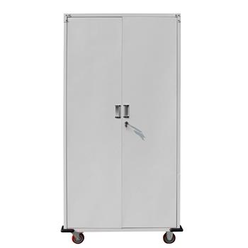 Metal Rolling Storage Cabinet Upright Tool Cabinet  Silver