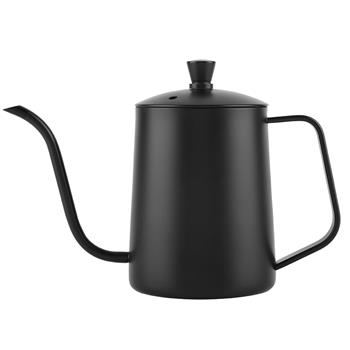550ml Stainless Steel Long Gooseneck Coffee Pot Kettle with Lid for Home Kitchen Coffee Shop