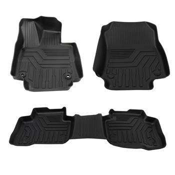 Fits Tundra Crew Max 14-18 Floor Mat Black Rubber ALL Weather Liners Genuine