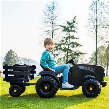 LEADZM LZ-925 Agricultural Vehicle Battery 12V7AH * 1 Without Remote Control with Rear Bucket Black