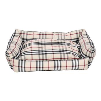 Pet Bed Dog Mat Cat Pad Plaid Khaki for Cats & Small Dogs