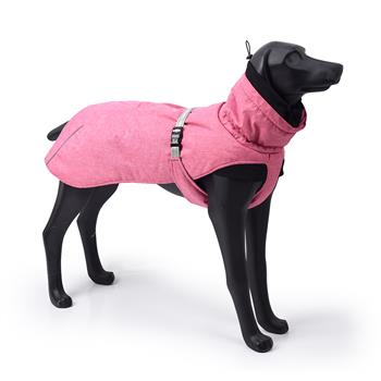 New Style Dog Winter Jacket with Waterproof Warm Polyester Filling Fabric-(pink ,size 2XL))