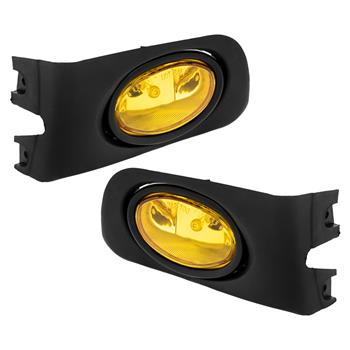 For 2001-2003 Honda Civic 2/4DR Yellow/Amber Lens Fog Lights Lamps w/ Switch
