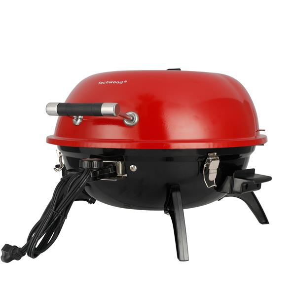 Techwood TWRG-01R Electric BBQ Grill Indoor Outdoor Picnic Party Home Garden Camping Roasting Barbecue Stand Grill(Cannot be sold on Amazon)