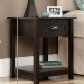 2pcs FCH 1-Drawer Nightstand End Table Black