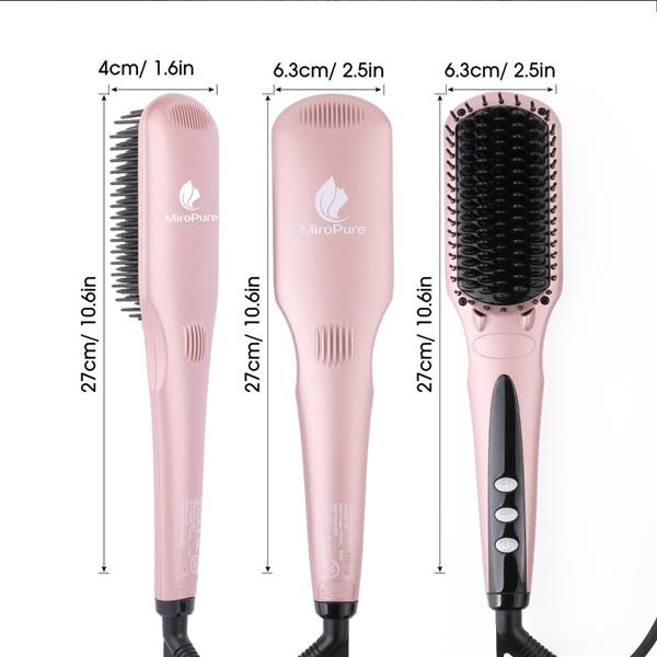 Miropure™ 2-in-1 Ionic Enhanced Hair Straightener Brush (The product has a risk of infringement on the Amazon platform)