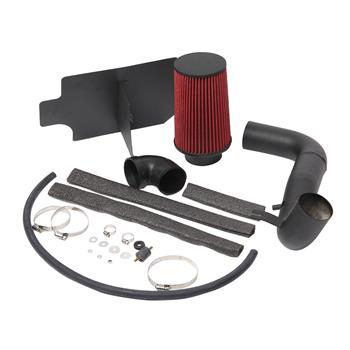 "3"" Intake Pipe With Air Filter Black Wrinkle   Red Filter for Gmc / Chevrolet Sonoma 1998-2003 2.2L L4 Red"