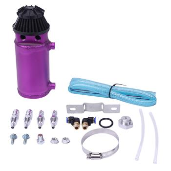 140mL Round Oil Catch Tank Double hole Oil Catch Tank with Air Filter Purple