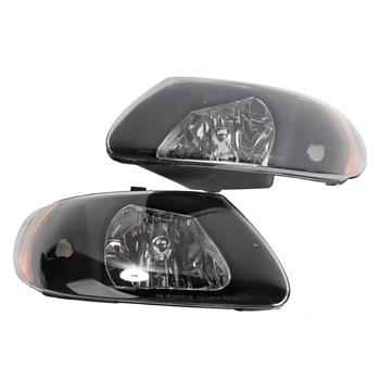 2pcs Front Left Right Headlights for Dodge Caravan/Grand Caravan 2001-2007/Chrysler Town & Country 2