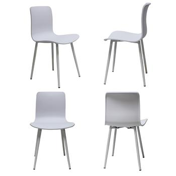 Dining room chair plastic design chairs 58x 52x 56cm dining room chair chairs Scandinavian with floor protector for dining room living room kitchen