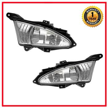 2X For 07-10 Hyundai Elantra Front Fog Lights Bumper Lamps Set Clear