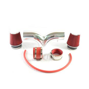 Double-barrelled Intake Pipe with Air Filter for Dodge/Jeep 1999-2004 V8 4.7L Red
