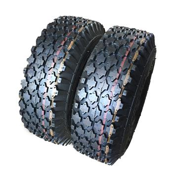 2 * Lawn Mowers Tires 4.10/3.50-6,2 Ply P605 Tread Depth 0.16in bias