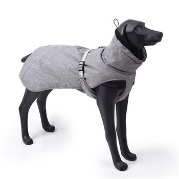 New Style Dog Winter Jacket with Waterproof Warm Polyester Filling Fabric-(gray,size L)