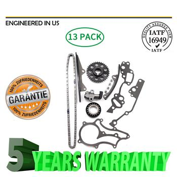 Heavy Duty Timing Chain Kit (w/ 2 Metal Guides) Fit 85-95 2.4 Toyota 22R 22RE