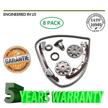 Timing Chain Kit Fit 97-02 Chevrolet Prizm Toyota Corolla 1.8L DOHC 1ZZFE