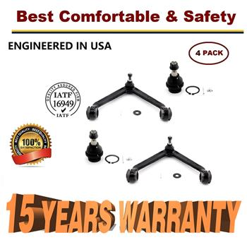 4pc Front Upper Control Arm Lower ball Joints 2002 2003 2004 2005 Dodge Ram 1500  - 15 YR WARRANTY